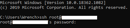 Accessing the SSH root server